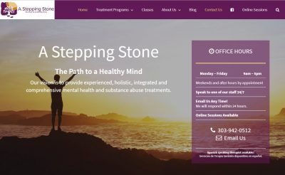 CoBa Web Design portfolio - A Stepping Stone