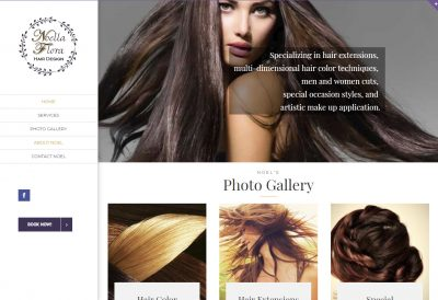 Noella Flora Hair Design site designed by CoBa Web Design