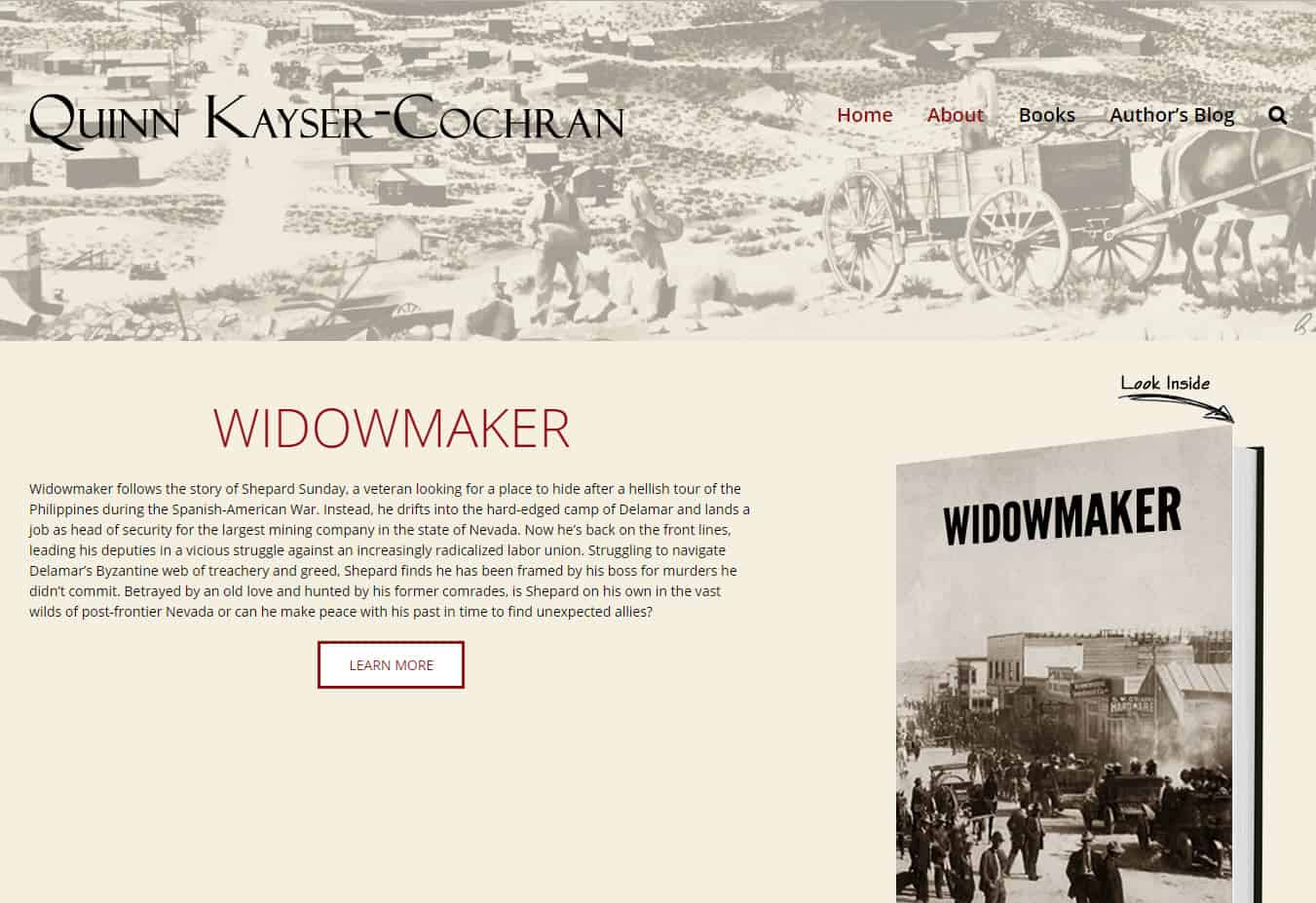 Quinn Kayser-Cochran. Author's site designed by CoBa Web Design
