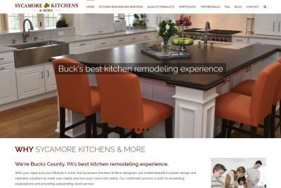Sycamore Kitchens site designed by CoBa Web Design