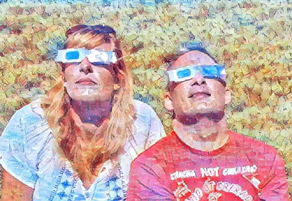 Valerie and Jason viewing the total solar eclipse 2017
